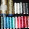 various shiny threads