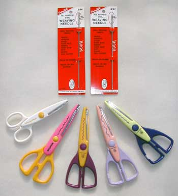 scissors and needles