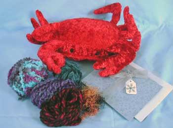 crab and yarn