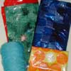 plastic bags and yarn