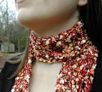 scarf by julie - being modeled
