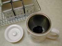 infuser in mug