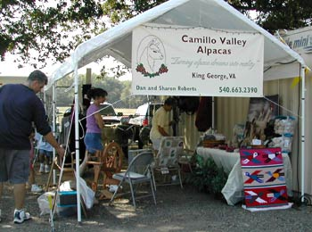 Camillo Valley Alpacas booth