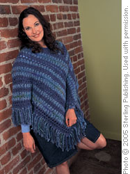 Blue Striped Poncho