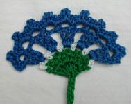 cornflower bookmark