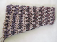 unfinished right sleeve folded