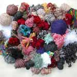 lot of yarn scraps