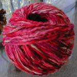 one ball of unraveled yarn