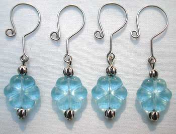 crochet stitch markers - blue