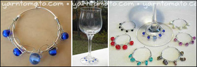 wire crochet wine glass charms